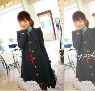 New fashion Womens Korea Slim Style woolen cloth skirt coat options U