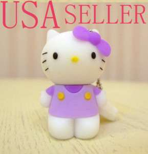 New cute Hello Kitty 4G 4 GB USB Memory Stick Flash Pen Drive keychain
