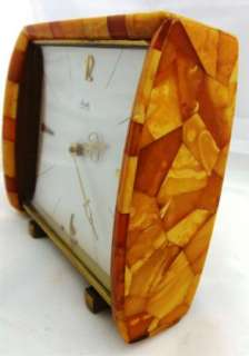 antique Art Deco Kienzle amber table watch by Konigsberg State Amber
