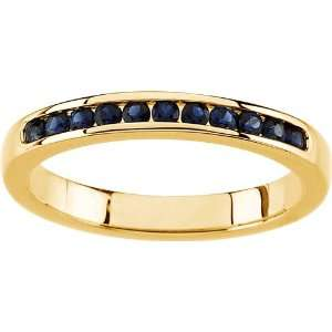 karat yellow gold Sapphire Anniversary Band Diamond Designs Jewelry