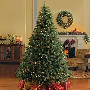4.5 Foot Blue Spruce Pre Lit Christmas Tree, Clear