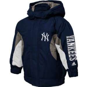 New York Yankees Toddler adidas Navy Midweight Hooded Jacket