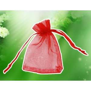 100 PCS Pure Red Organza Wedding Party, Baby Shower Party, Favors Gift