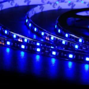 Flexible String 300 SMD LED Strip Rope Light 16.4FT Blue For Boutique