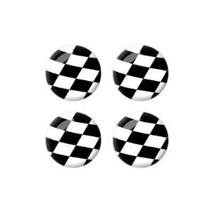 Racing NASCAR   Wheel Center Cap 3D Domed Set of 4 Stickers Badges