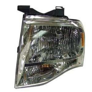 2007 08 FORD EXPEDITION HEADLIGHT ASSEMBLY WITHOUT BLACK OUT, DRIVER