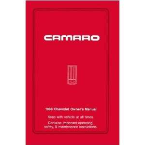 1986 CHEVROLET CAMARO Owners Manual User Guide Automotive