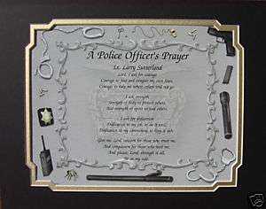 POLICE OFFICERS PRAYER PERSONALIZED POEM GIFT FOR COP