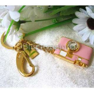 4GB Crystal Camera Jewelry Keychain USB 2.0 Flash Memory Pen Drive