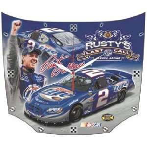 NASCAR Rusty Wallace High Definition Clock