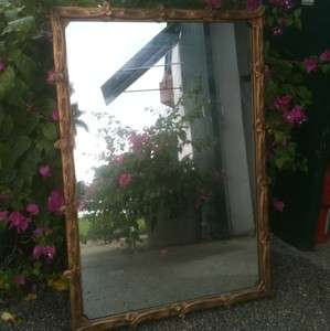 Nice Antique Vtg Art Deco Gilt Gold Mirror