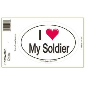 I Love My Soldier Bumper Sticker Decal Automotive