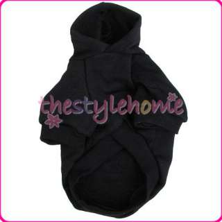 Puppy Dog Sporty Hood Coat Jacket Clothes Apparel Black