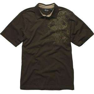 Fox Racing RSVP Polo Shirt   X Large/Dark Brown