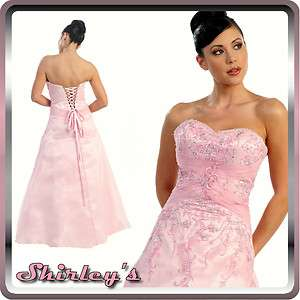 Long Strapless Bridesmaid Prom Party Dress Satin Formal Evening Gown S