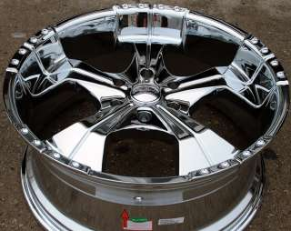 REALM 280 22 CHROME RIMS WHEELS TOYOTA TACOMA TUNDRA 6H