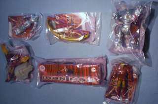 Burger King 2008 Iron Man Complete Set of 6 MIP