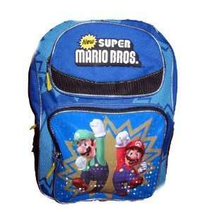 NEW SUPER MARIO Bros Brothers Large Backpack Bag Tote  Toys & Games