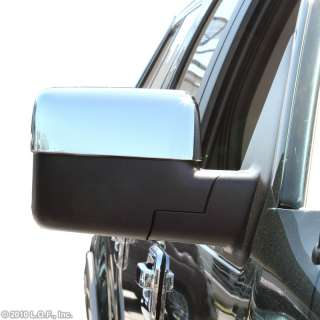 2004 2008 Ford F150 Chrome Door Mirror Cover Trim Overlay Kit Top Half