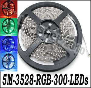 pcs 5M 3528 RGB Flexible Strip 300 LED 60leds/M 500CM