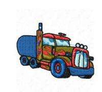 MONSTER TRUCKS,BIG RIGS,SEMI TRAILERS GOLLYGOSH MACHINE EMBROIDERY