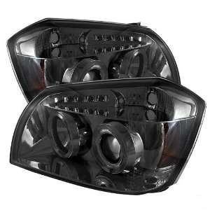 2005 2006 2007 Dodge Magnum Halo LED Projector Headlights