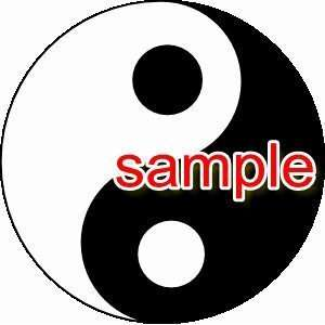 YIN YANG SYMBOL WHITE 10 VINYL DECAL STICKER Everything
