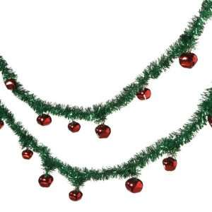 Green Tinsel Artificial Christmas Garland 5.5 x 1.75