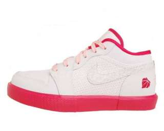 Nike Girls Air Jordan Retro V.1 GS White Storm Pink Valentines Day 4