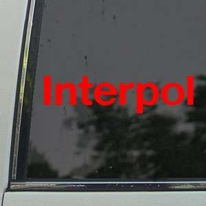 Interpol Red Decal Rock Band Car Truck Window Red Sticker