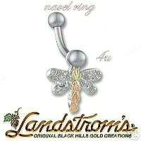 Black Hills Silver & Gold Dragonfly Navel Ring G376