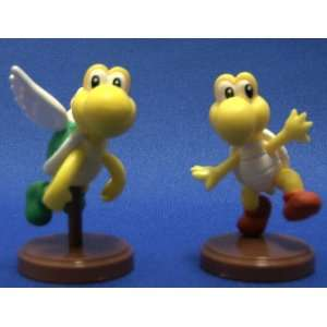 Bros Figure Mini Koopa Troopa Green Paratroopa Set