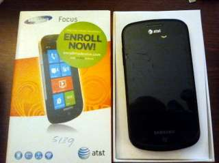 Samsung SGH i917 Focus   Black (AT&T) 8GB Upgraded to Windows 7.5