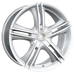 15x7 Ion Alloy wheels STYLE 161 HyperSilver wheels rims Automotive