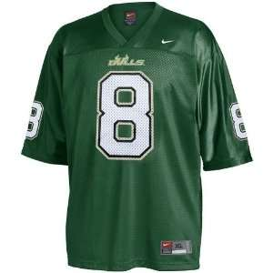 Nike South Florida Bulls #8 Green Replica Football Jersey (X Large