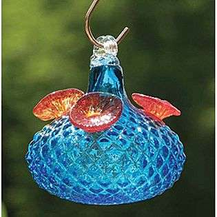 Jewel Hummingbird Feeder Aqua  Bird Brain Outdoor Living Outdoor Decor