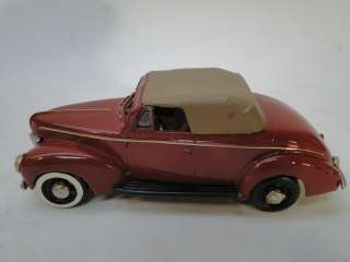 VINTAGE AUTO BUFF 1940 FORD CONVERTIBLE TOY CAR DIECAST die cast 143