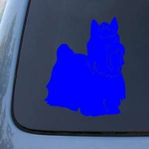 YORKSHIRE TERRIER SILHOUETTE   Dog Decal Sticker #1571  Vinyl Color