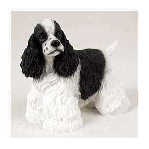 Cocker Spaniel Dog Figurine   Parti Black