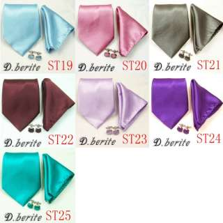 MENS NECK TIE NECKTIES HANKY CUFFLINK GIFT BOX SET ST