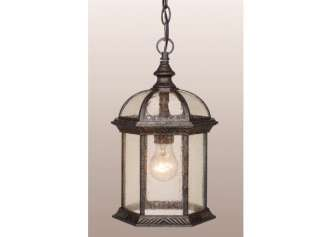NEW CHATEAU GOLD STONE OUTDOOR HANGING LANTERN VAXCEL FIXTURE LIGHTING