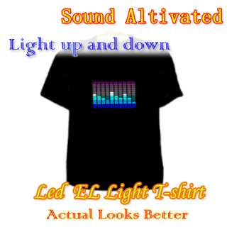 Party Fashion Flashing Music Up and Down Light Sound Activated LED EL