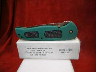 NORTH AMERICAN HUNTING CLUB FOLDING KNIFE MINT IN ORIGINAL BOX