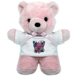 Teddy Bear Pink Look After My Heart Roses Chains and Angel