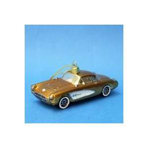 of 6 Champagne Gold Classic Chevrolet Corvette Christmas Ornaments 5