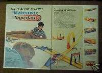 Superfast Diecast Car Race Sets Vintage Toy Vechicles Print Ad