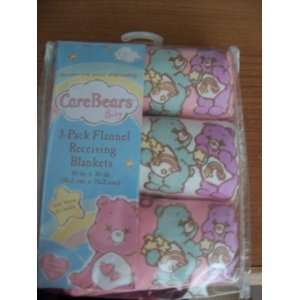 Care Bears 3 Pack Flannel Receiving Blankets 30in X 30in Baby