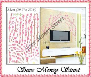 Removable Wall sticker decal   Cherry bloosm