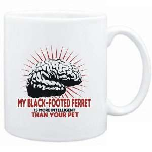 Mug White  My Black Footed Ferret is more intelligent