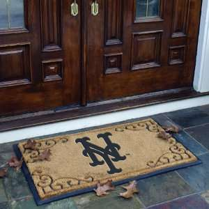 39 MLB New York Mets Baseball Logo Doormat